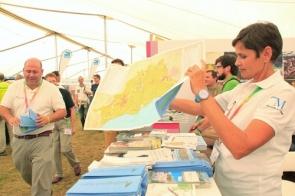 Málaga tourism delegates at British Birdwatching Fair in the UK