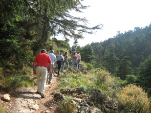 Hikers in the Sierra de la Nieves