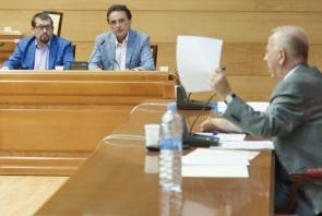 Mayor Pedro Fernández Montes (right), addressing councillor José Ortiz (centre)  (Photo: Rohu)