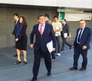 Rogelio Mena arriving in court last week for the one-day trial