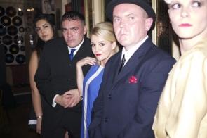 Members of the cast, including Nicola Stapleton (centre)