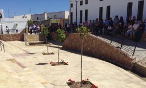 The new fountain square