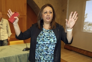 Head of the board of Trustees, Maria del Mar Villafranca, was detained and questioned by police before being released