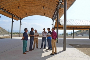 Officials during a visit to the new market site last week