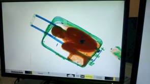 The boy was spotted during a security scan of the suitcase (Photo: EPA)