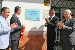 Officials at the plaque unveiling ceremony last week for the SATE office in Mijas