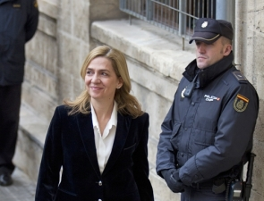 Princess Cristina arriving at the Mallorca court for a hearing earlier this year
