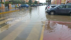 One of the flooded streets in Pueblo Laguna in Vera last week