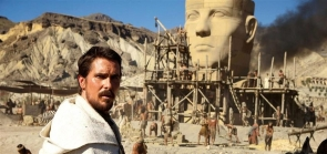 Christian Bale as Moses with dramatic Sierra de Alhamilla backdrop