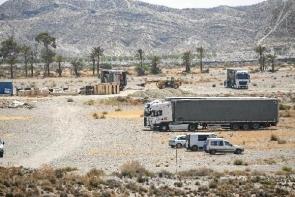 Lorries unload props for Game of Thrones this week