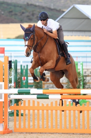 One of the riders at the opening day of the competition