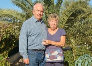 John and Susie Hare had a close shave with a burglar last month