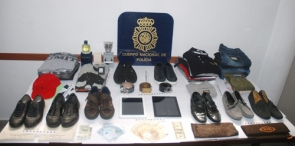 Some of the designer items confiscated by the police
