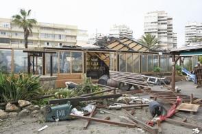 The Copacabana chiringuito in Torremolinos was practically destroyed (Photo: CDSN)