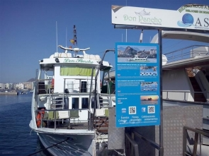 The 'Don Pancho' pleasure boat in Aguilas port