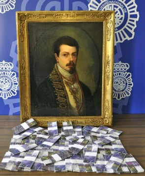 Police seized the counterfeit painting and the fake Swiss francs the supposed sheik used to pay for it (Photo: EFE)
