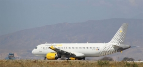 The Vueling aircraft could not depart Almería airport