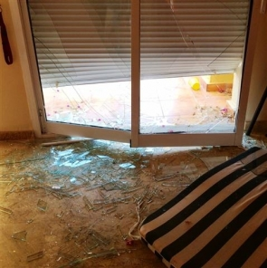 Damage done to a property on Valle del Este resort