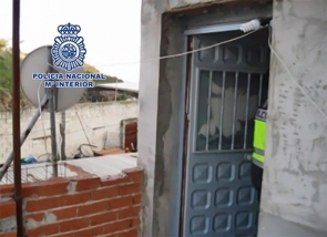 Footage from a police video when officers raided the property in Vélez-Málaga