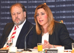 Junta president Susana Díaz at a conference earlier this week