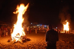 San Juan celebrations were cut short in Mojacar  this year
