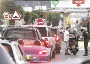 Queues at the La Linea-Gibraltar border are expected to continue for the duration of the works being carried out on the Spanish side of the frontier