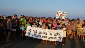 Vera residents expressed their fears about a repeat disaster when they held a large protest last month