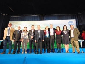 Some of the PP's candidates posing for a group photo recently, including Gabriel Amat (fifth from the left)