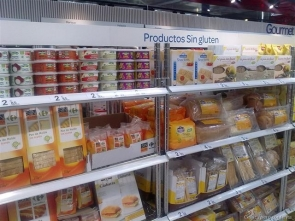 Spanish supermarkets have a limited stock of gluten-free products