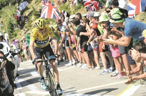 Reigning Tour de Frane champion Chris Froome will be taking part