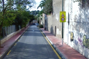 The street in Málaga where the accident happened