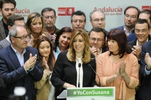 The PSOE's Susana Díaz in a press appearance after the elections (Photo: EFE)