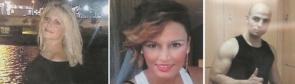 Marina Okarynska, her friend Laura del Hoyo and their suspected killer Sergio Morate