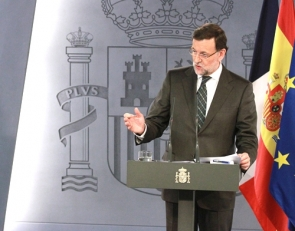 PM Rajoy at the press conference where he made the comments on Scotland