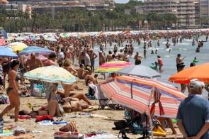 Carlist Catholic group says scenes on mixed beaches ar 'often close to sin' photo EPA