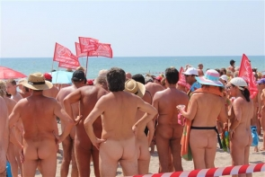 An end in sight to bums on the beach? But the mayor is at pains to point out that naturism in Vera is safe