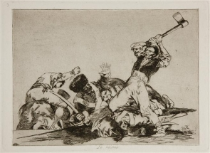 A plate from Goya's 'Disasters of War' print series