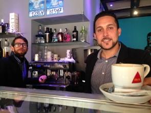 InOut participants Rubén Bustamente (left) and Jesús Anaya at Málaga's Abreboca tapas bar