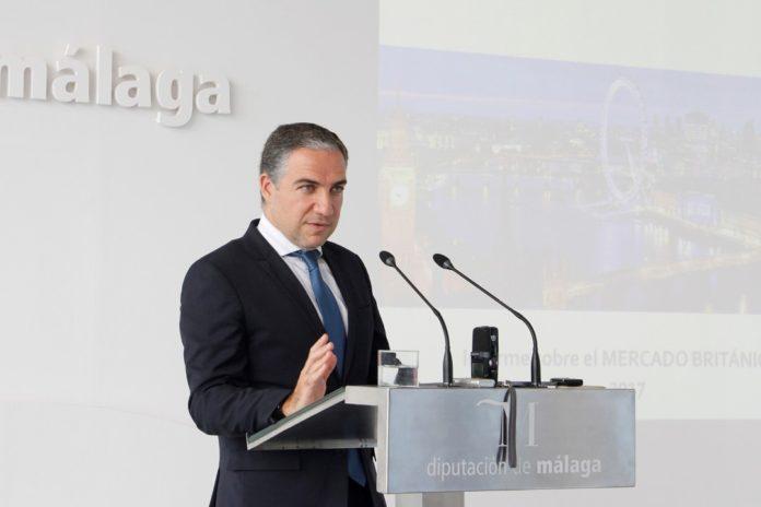 Elías Bendodo presenting the figures last week