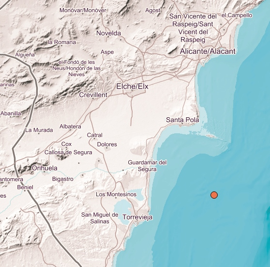 Earthquake felt across Alicante Province